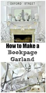 how to make a book page garland and style a mantel on a budget