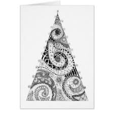 christmas ink drawing greeting cards zazzle
