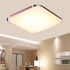 livingroom lamp 30w rgb led square ceiling light fixture pendant lamp flush mount