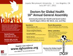 Alumni Meet Invitation Card Register Now For Doctors For Global Health 2010 Annual Meeting At