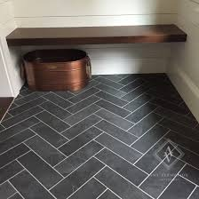 vermillion s home cut herringbone slate tile floor in