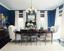 Dining Out In Your New Navy Blue Dining Room - Navy and white dining room