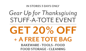 sur la table thanksgiving stuff a tote event free tote 20