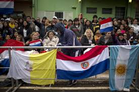 Paraguayan Flag Pope Gushes About Paraguayan Women During Mass In Caacupe Kutv