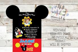 mickey mouse printable birthday invitations mickey mouse birthday party invitation mickey mouse birthday