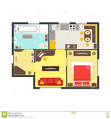 apartment or flat house floor plan top view stock vector image