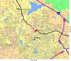 cary nc zip code map zip code map