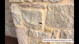 use colored mortar to repair holes in artificial stone youtube