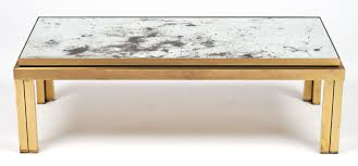 Mirrored Top Coffee Table Antiqued Mirror Top Brass Coffee Table Jean Marc Fray