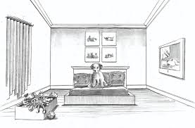 sketch 1 a pencil drawing of the dog u0027s room that will be part of
