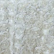 132 satin ribbon rosette tablecloth designer wedding