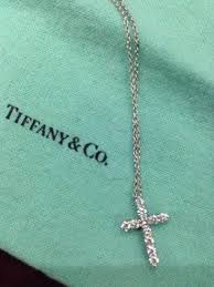 diamond cross heart necklace images Tiffany co platinum diamond cross pendant necklace products jpg