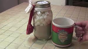 how to make cocoa mix mason jar gift idea diy youtube