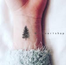 4pcs tiny pine tree gift small inknart