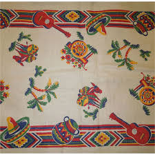 Mexican Table Runner Vintage Mexican Design Fabric For Table Runner From