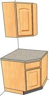 how to measure corner cabinets angled cabinets