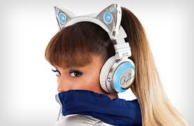 light up cat headphones ariana grande headphone brookstone
