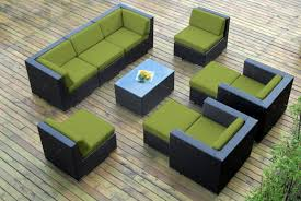 collection 10pc wicker outdoor sectional sofa set