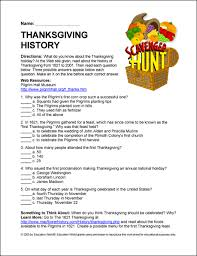 education world scavenger hunt story of thanksgiving