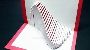 How To Make A Card Envelope - how to make a wave pop up card kirigami 3d ocean by