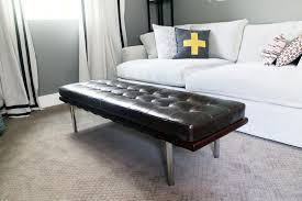 White Leather Benches Andalucia Bench Andalucia Black Leather Bench Free Shipping Today