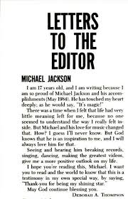 ebony magazine letter to the editor michael jackson official site
