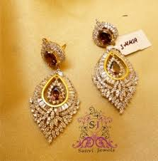 diamond earrings online buy rhodolite american diamond earrings online