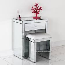 small dressing table with mirror and stool venetian mirrored compact dressing table with white stool home