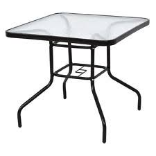 Glass Table Patio Set Unbranded Glass Square Patio Garden Tables Ebay