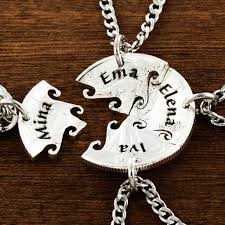 best friends puzzle necklace images 4 best friend necklace custom name necklaces interlocking puzzle jpg