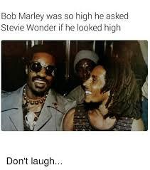 Stevie Wonder Memes - bob marley was so high he asked stevie wonder if he looked high don