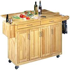 island wood kitchen island cart