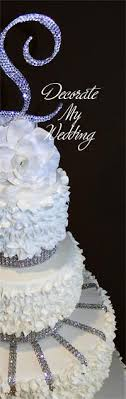 rhinestone cake decorate my wedding swarovski rhinestone cake banding 2 rows