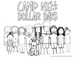coloring pages from camp new dollar days movie kicks tv