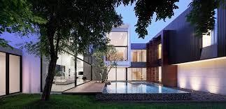 courtyard home designs home designs modern home thailand spectacular modern