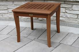 Accent End Table Eucalyptus Wood Accent Table For Porches Patios And Decks