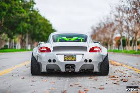 ruf porsche wide body this custom widebody porsche cayman is truly insane cool stuff