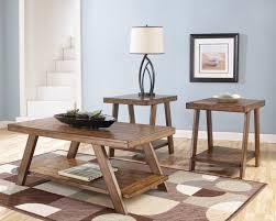 bradley rustic plank coffee table set by ashley furniture my