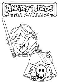 Angry Birds Star Wars Luke Skywalker And His Father Darth Vader Darth Vader Coloring Pages