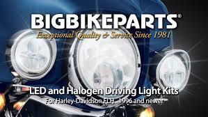 harley davidson lights accessories led and halogen driving lights for harley davidson flh youtube