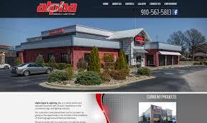 alpha signs lighting portfolio biz tools one web design
