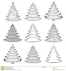 christmas tree sketches christmas lights decoration