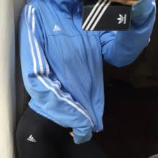 light blue adidas hoodie 50 off adidas jackets coats baby blue zip up jacket poshmark