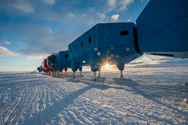 winter postcard from antarctica on at the halley