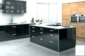 meuble de cuisine noir laqué cuisine laquee cuisine noir et blanc laque meuble de