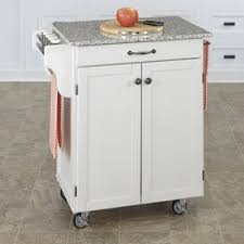 white kitchen island with granite top shop kitchen islands carts at lowes com