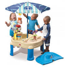 high seas adventure sand and water table with umbrella by step2