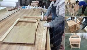 how to production solid wood bathroom vanities luxdream