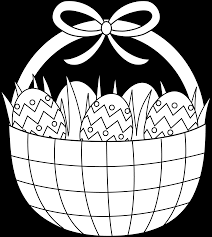 easter basket coloring page free clip art