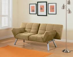Comfortable Chairs For Small Spaces by Light Brown Velvet Convertible Sofa Bed Which Equipped With